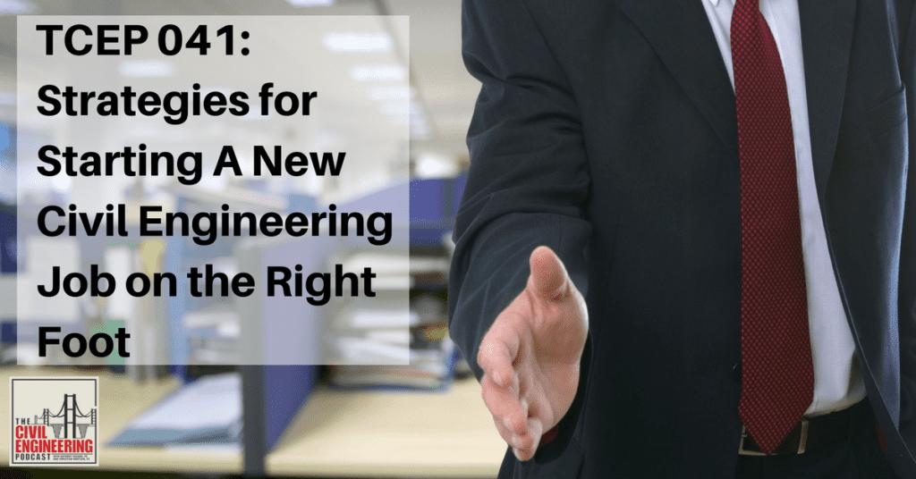 new civil engineering job
