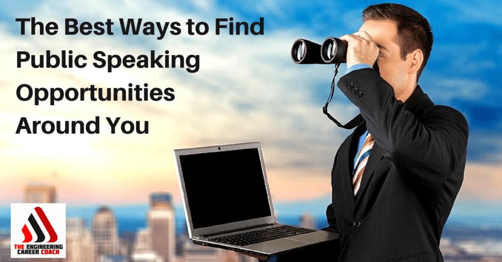 Public Speaking Opportunities