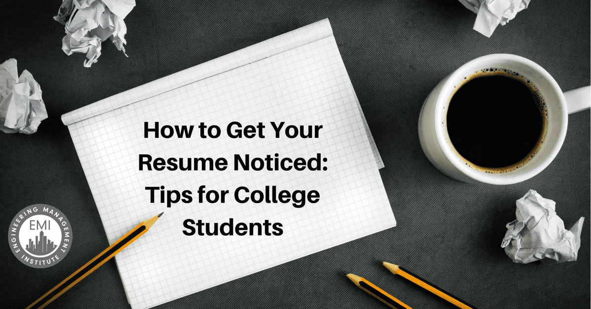 how to get resume noticed