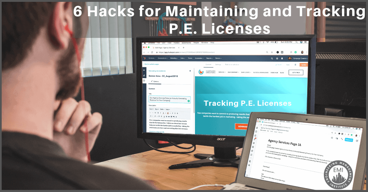 Tracking P.E. Licenses