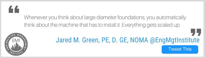 large diameter foundations